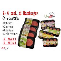 4 Maxi Hamburger e 4 Mini Hamburger
