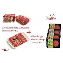 Arrosticini Marfisi + 4 Maxi Hamburger